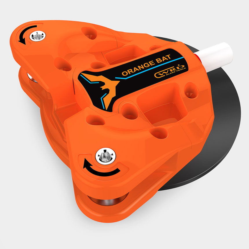 WRD Orange Bat - Dual Spindle Auto Glass Removal Tool